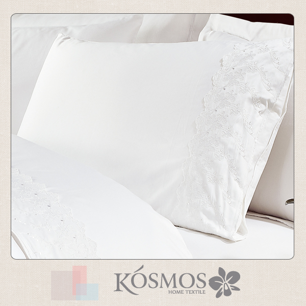 50% cotton 50% polyester lace embroidery wholesale pillow case