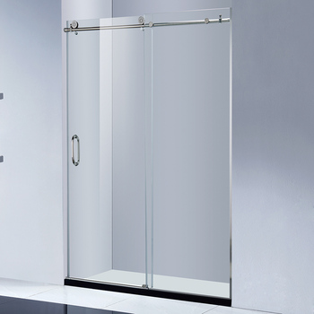Frameless Sliding Glass Shower Barn Door View Sliding Glass Barn Doors Health Product Details From Foshan Nanhai Kangjian Sanitaryware Co Ltd On