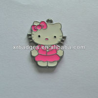 hello kitty shaped zinc alloy tags
