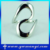 100% New High Quality Fashion Value Shine Eight Shape Silver Man S Ring R0211