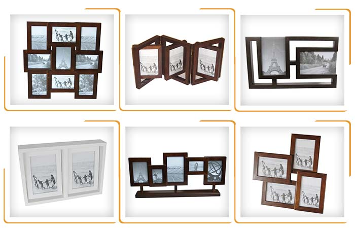 Custom decorative wooden mdf photo picture frame