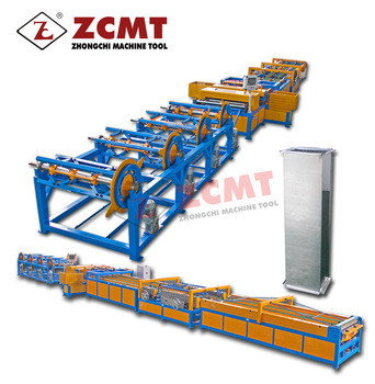 ZCMT hvac square duct manufacture auto line 5,square tube machine