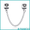 925 Sterling Silver Safety Chain Charm Beads Fit Original Bracelet, Clip Lock Stopper Beads