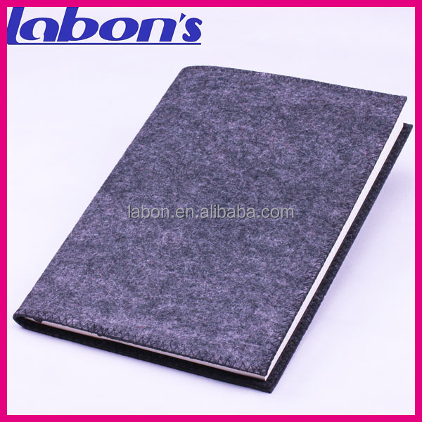 High Quality Felt Fabric Soft Cover Samrt Gray notebooks form factory cheap wholesales c