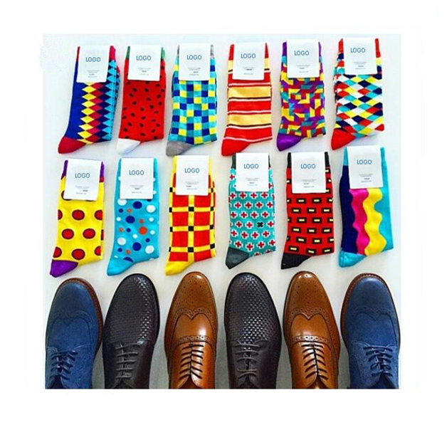974efcdff729 Happy Socks ,Wholesale Custom Colorful Jacquard Socks,Fashion Design Man Dress  Socks