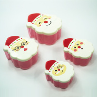 4 in 1 Bpa Free Christmas Festival Santa Claus Storage Container For Kids