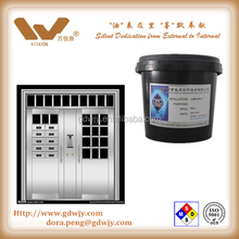 Water based transparent masking coating for stainless steel, aluminum alloy