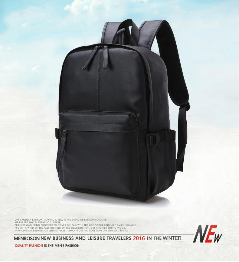 5084d52444 ... Travel Laptop Backpack PU leather College Tide Casual Men Backpacks  School Bag ZDD9132. aeProduct.