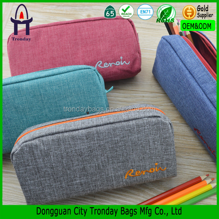 Top quality multicolour 600D cool pencil cases for teenagers pen bag
