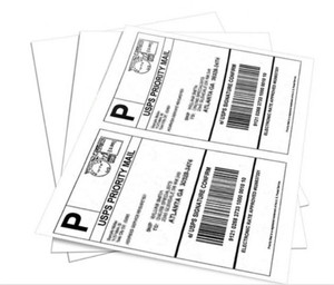 A4 self adhesive paper half sheet USPS laser/inkjet shipping label