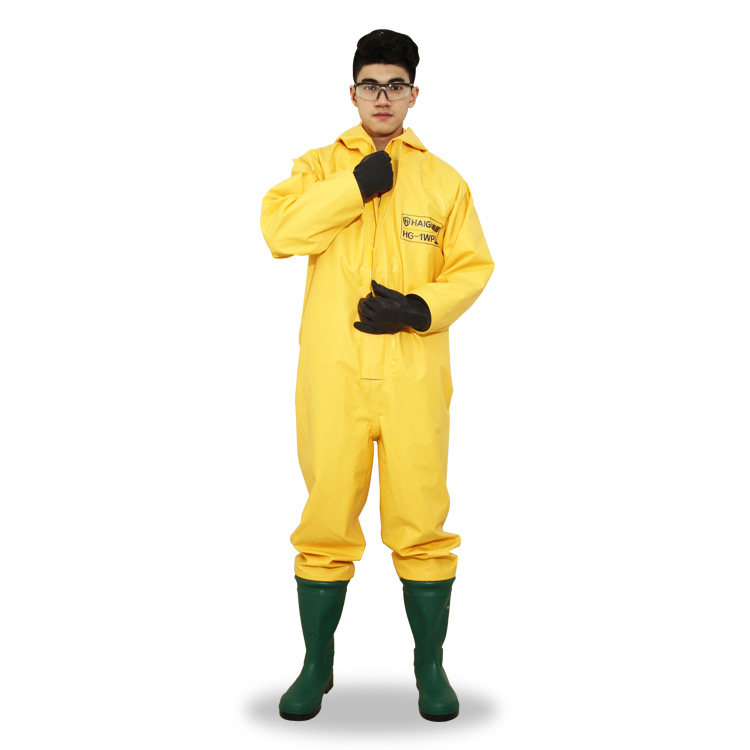 HAIGU HG-1WP acid and alkali resistant chemical protective safety suit - KingCare | KingCare.net