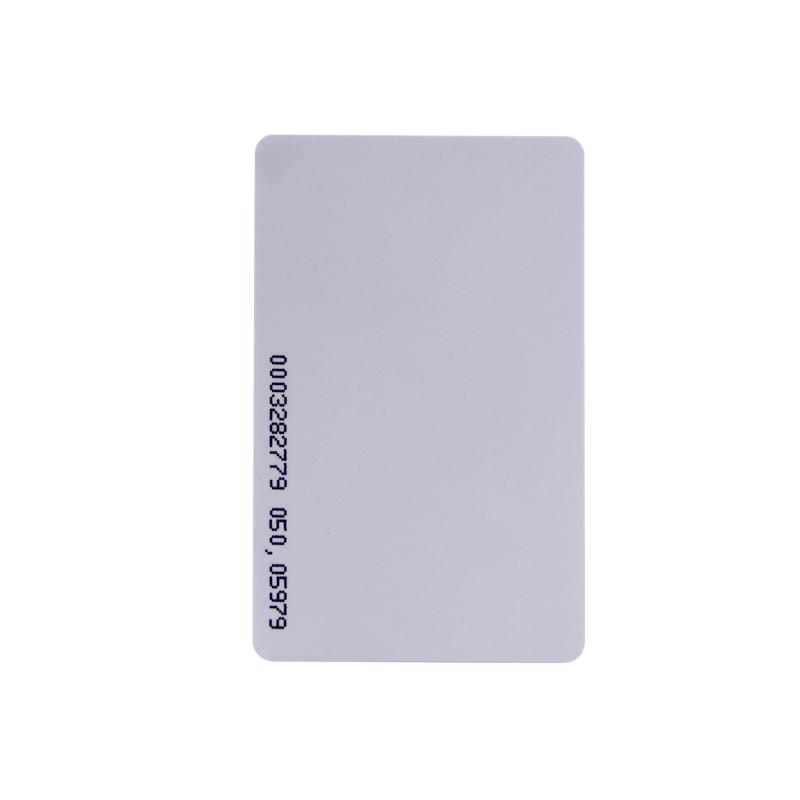 بيرميير كامل اللون شفاف تتفاعل بطاقة الطباعة الأعمال IC بطاقة مع أرقام النقش بالليزر