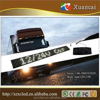 90x8.5cm/90x9.2cm 12/24V wired USB Keyboard mode Taxi car truck bus use LED keyboard message display
