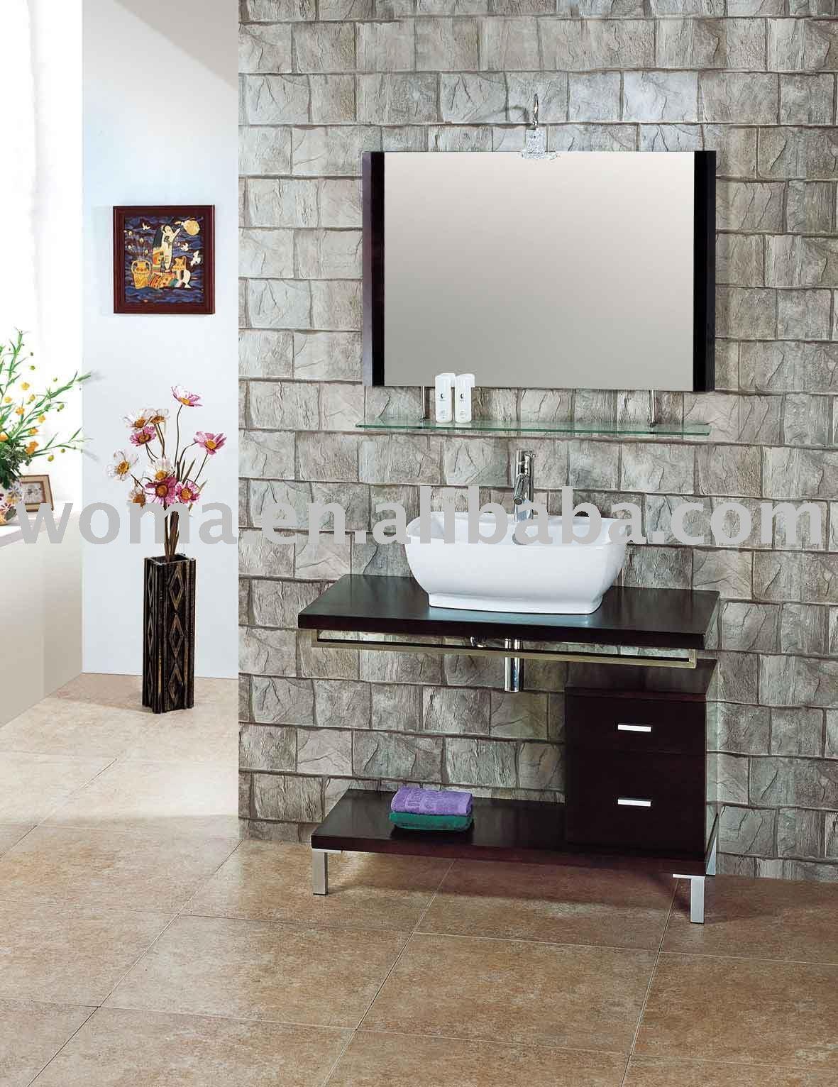 do balcão pia do banheiro do gabinete 2108 Penteadeiras para banheiro  #5F493F 1181x1532 Balcao Banheiro Moderno