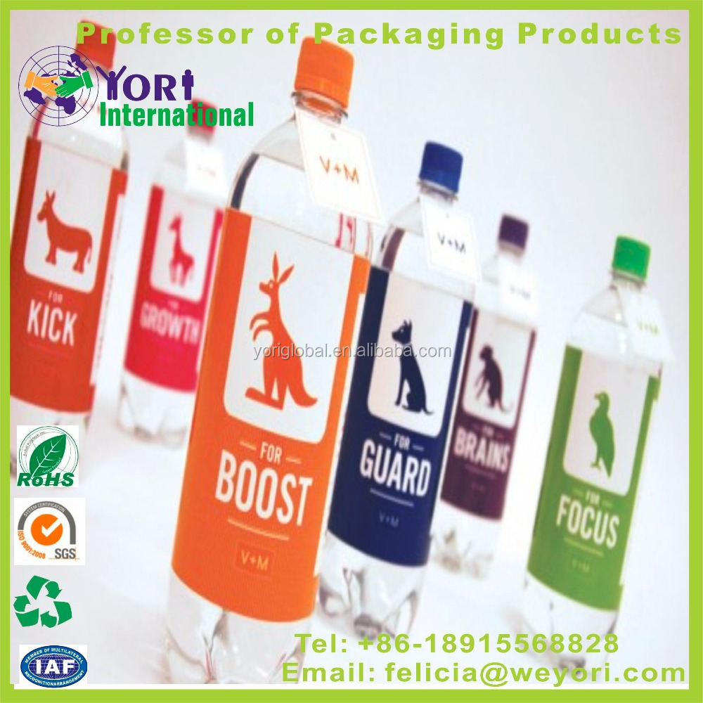 Yori bottle label printing soft drink shrink label