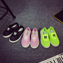 Children Shoes Candy Color Summer Breathable Mesh Kids Sports Shoes Casual Single Net Cloth Boys Shoes Girls Sneakers