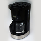 Single serve 10 cup coffee maker black with water level