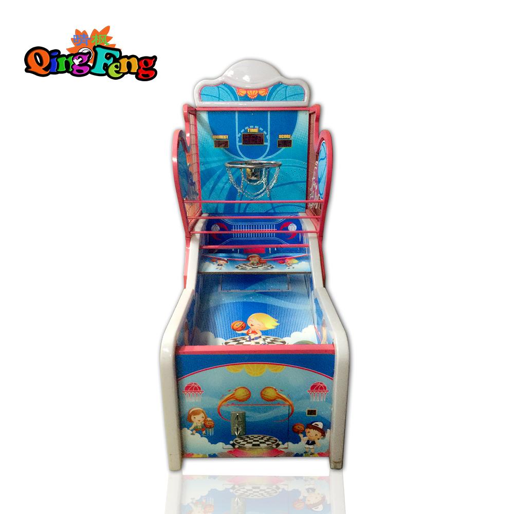 Qingfeng 2017 canton fair coin operated kids shooting ball basketball arcade game machine