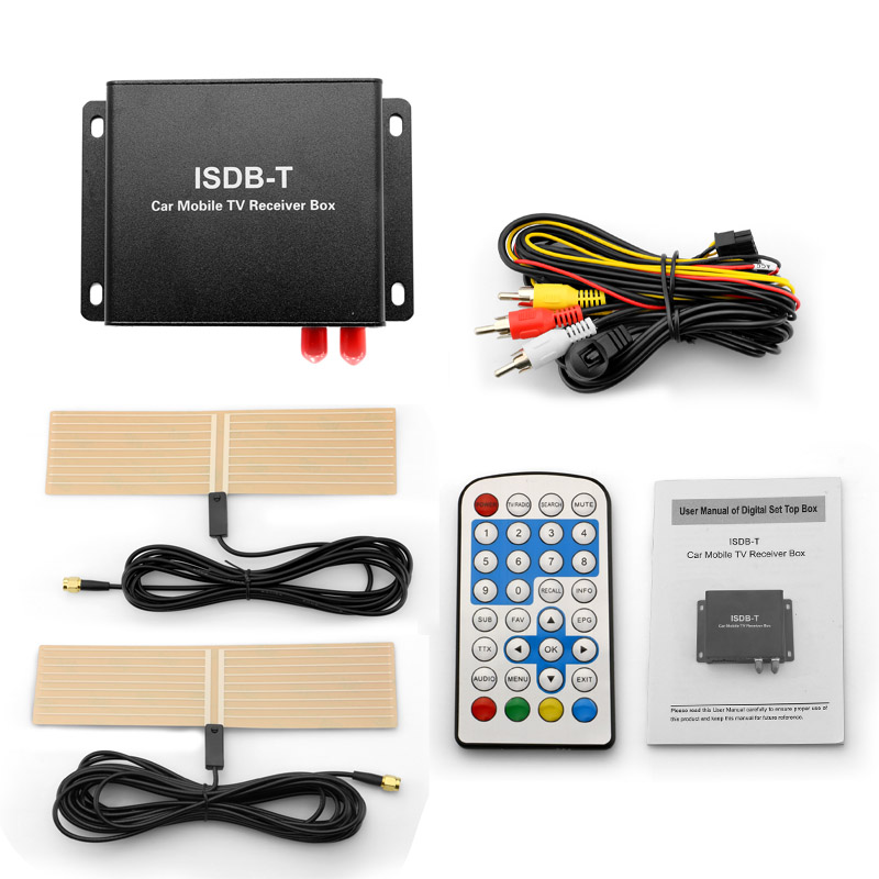 Hot selling ISDB-T full seg Car satellite digital tv signal tuner receiver set top box
