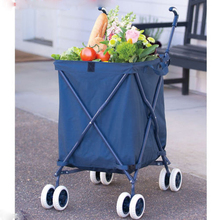 Four wheels Folding shopping cart, vegetable shopping trolley bag