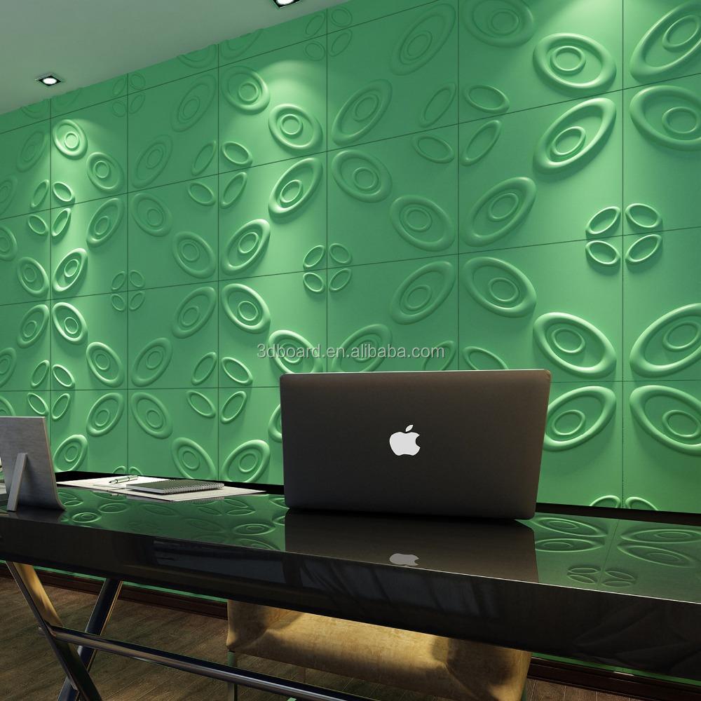 Planta de fibra de paneles de pared decorativos 3d - Empresas de diseno de interiores ...