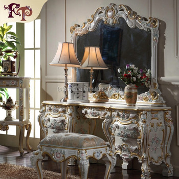 Antique Furniture Dressing Table Italy Style Luxury Classic Home