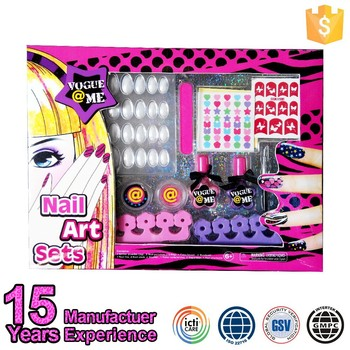 China Gmpc Cosmetic Toy Factory Fashion Kids Home Gel Nail Kit Buy