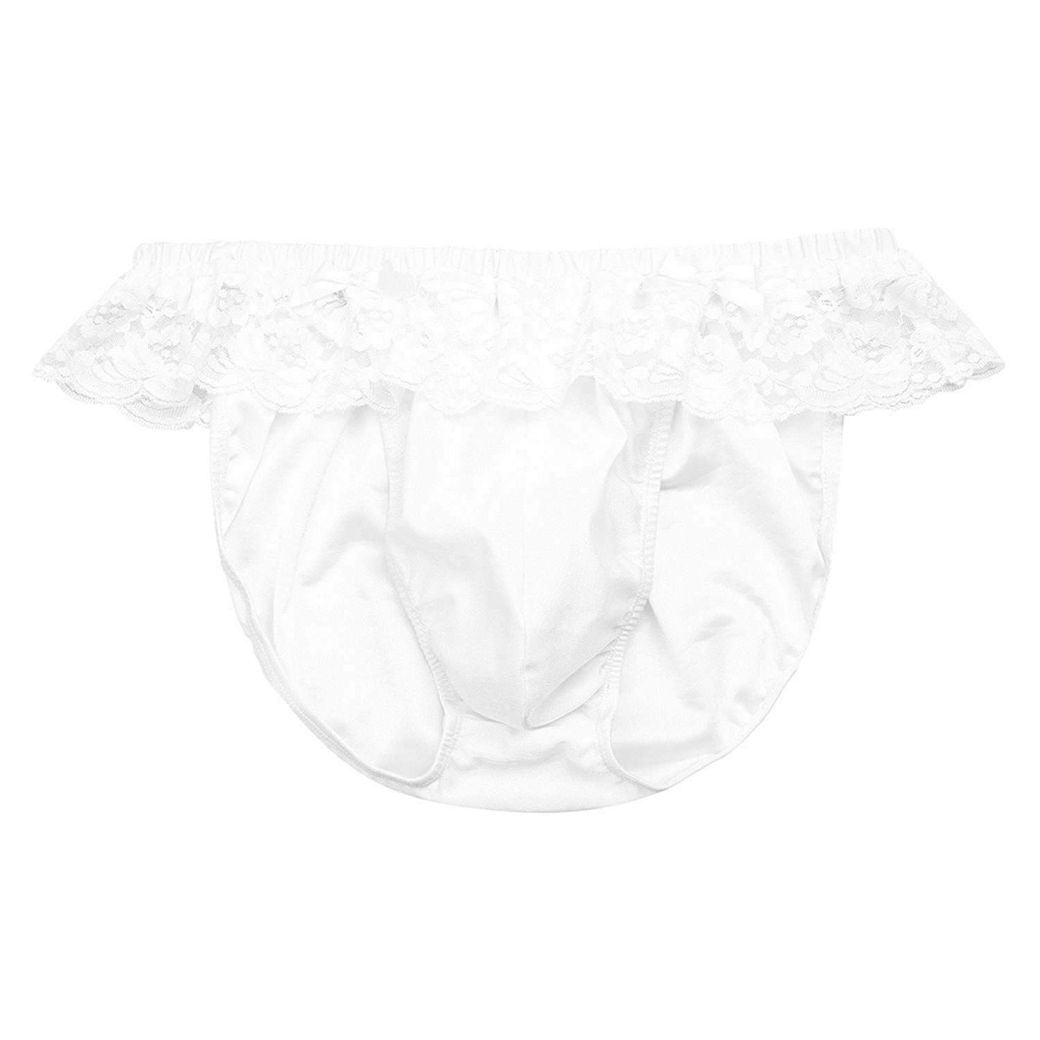 46a3601eb7e0 Get Quotations · YiZYiF Mens' Frilly Lace Sissy Pouch Bikini Panties Ruffled  Trimming Underwear