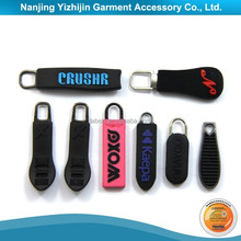 Customized Rubber Logo New Silicone PVC Zipper Puller Design