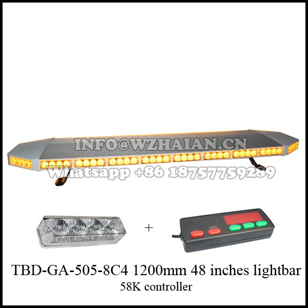 47 Inches Amber LED Light Bar with 360 Degree Visual Angles TBD-GA-505-8C4