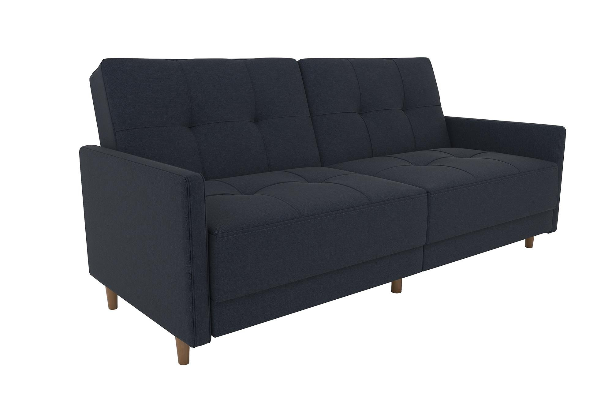 Buy Dhp Andora Coil Futon Sofa Bed Couch With Mid Century Modern