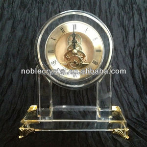 Custom Unique Desk Crystal Clocks Decoration Gifts