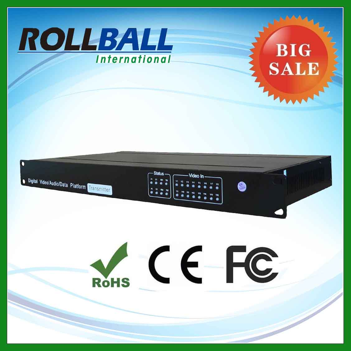 Low cost digital optical fiber 16 channel video converter