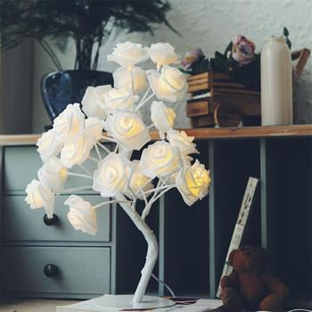 High Quality Warm White 24L Rose Bonsai Tree Wedding Decoration