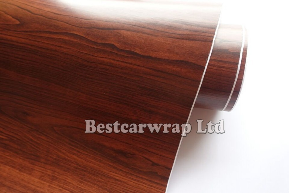 2019 Woodgrain Vinyl Car Wrap Vinyl Brown Wood Grain Film