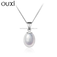 OUXI Latest fasion 925 sterling artificial pearl silver jewelry