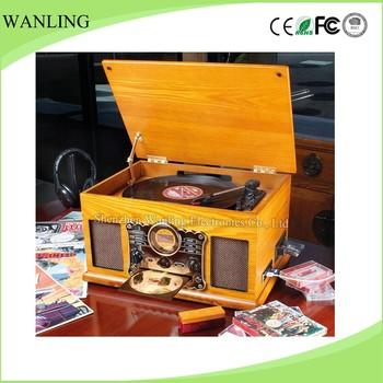 Retro Ceramic Stylus Turntable Cd Radio Gramophone With Usb ...