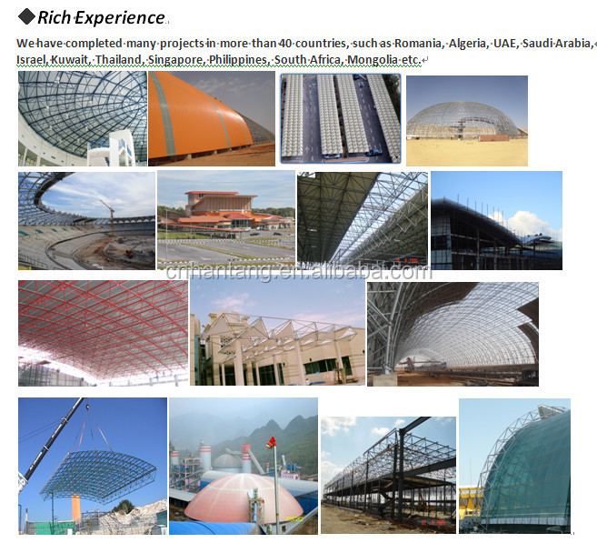 Space Frame/stee Truss Exhibition Hall Roofing