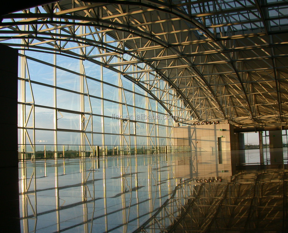 hot dip galvanized steel structure grid prefab airport