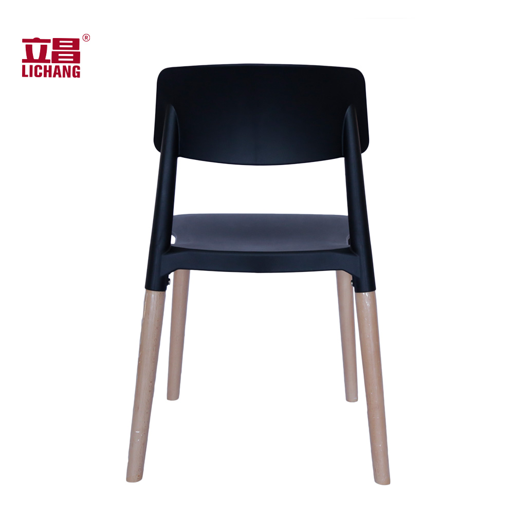 Cafe Chair Simple Plastic Wooden Dining Chair XRB-091