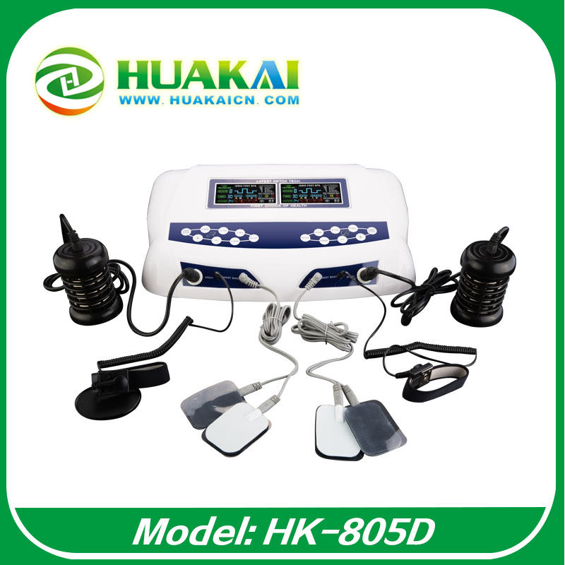 2015 the most popular dual ionizer foot detox foot spa machine HK-805D with Belt and Accupuncture