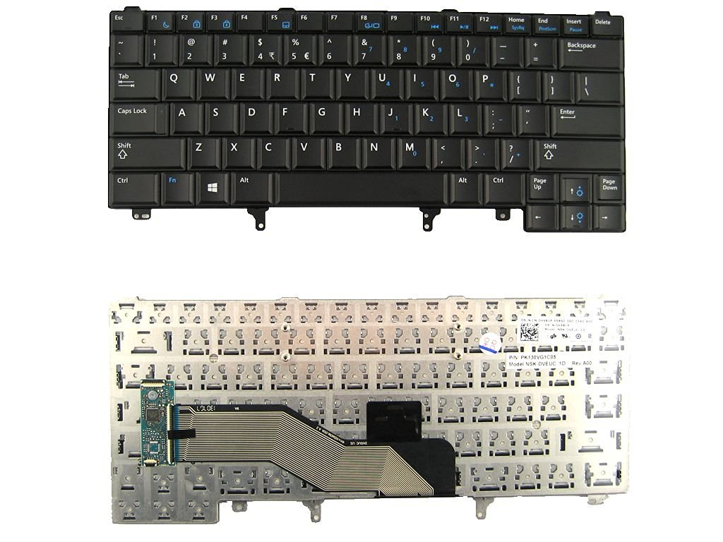 LotFancy Laptop replacement keyboard for Dell Latitude E5420 E5430 E6220 E6230 E6330 E6320 E6420 E6430 Fit part number: 0FWVVF FWVVF ATG PD7Y0 C7FHD 0C7FHD 0C7FHD PK130FN3A00 9Z.N5MUC.E1D NSK-DVEUC 1D 0H981P PK130VG1C05 /Black /No-Pointer /Non-backlit /Notebook US Layout