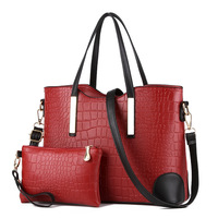 Best selling Simple Elegant 2pieces/sets Leather PU leather handbag Fashion bags women handbags