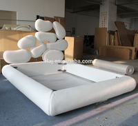 Leather Fabric Material Bed Furniture Creative Design