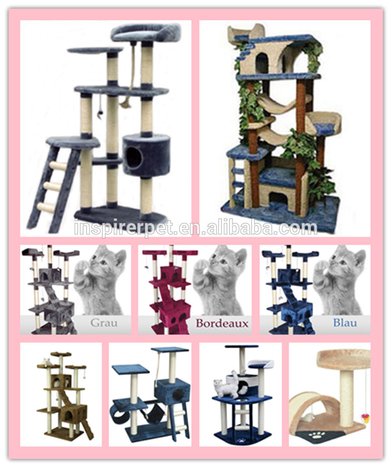new cat tree wooden cat furniture bed sisal ball toy view wooden cat furniture inspirer pet
