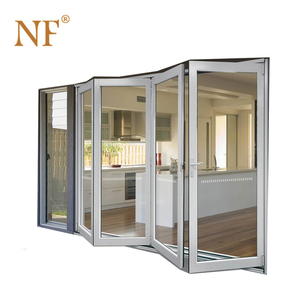 PVC Plastic accordion horizontal folding patio door