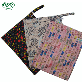 82aebd6db5 Baby Wet Dry Bag Splice Cloth Diaper Waterproof Bags Large and Small Size  with Zipper Snap