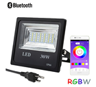 30W Cellphone APP Control Smart RGB LED Flood Light Grow Plant Waterproof Smart Dimmable Lamp Landscape Light