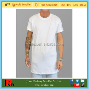 Trade Assurance Ring Spun Custom Cotton Plain Elongated Tall T Shirt