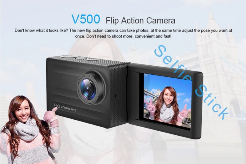 4K HD DV 16MP Selfie Video Camera Action 4K Wifi Waterproof Camcorder Sports Action Camera